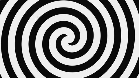 Black And White Hypnotic Spiral, Loop GIF