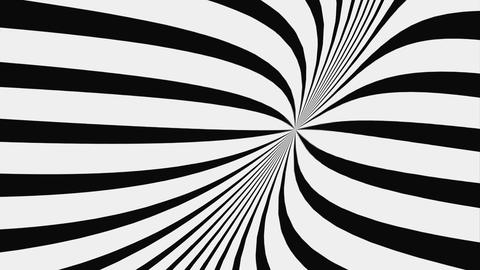 Black And White Hypnotic Spiral, Loop Live Action