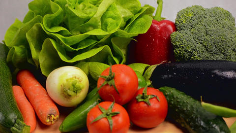 Healthy Vegetables Laid Out Footage