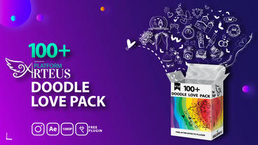 Doodle Love Pack Plantilla de After Effects