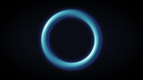 Abstract Technology Ring Rotation Loop Animation Animation