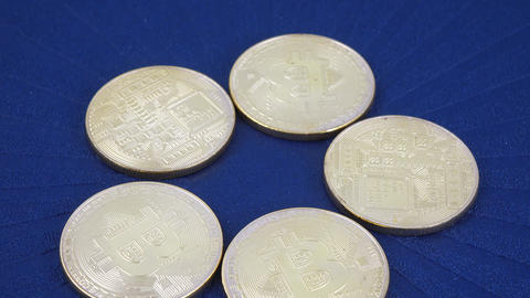Coins imitating bitcoins 영상물