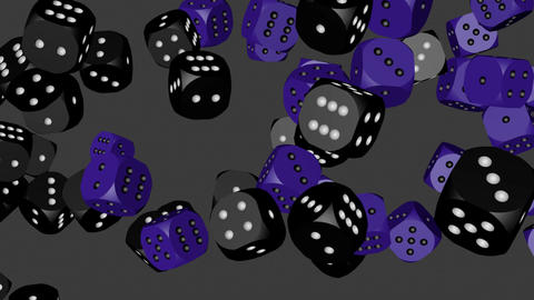 Black and Blue Dice Collided Animation