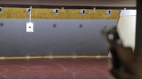 The Girl Shoots A Gun Footage