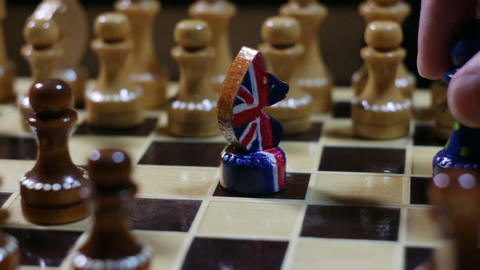 Chess game in Brexit Footage