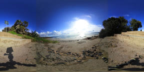 360 vr video of Le Bombarde beach on a cloudy day VR 360° Video