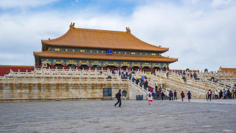 Forbidden city Beijing view of Hall of Supreme Harmony in Beijing, China Live Action
