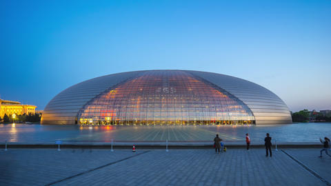 Day to night time lapse of National Centre for the Performing Arts in Beijing, Footage