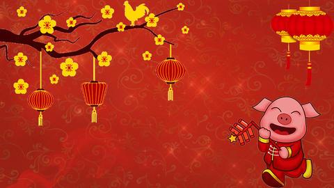 Chinese New Year 04 - Virtual Background Loop ライブ動画