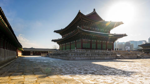 Gyeongbokgung Palace time lapse in Seoul, South Korea Timelapse Live Action