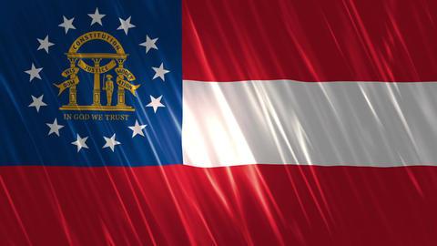 Georgia State Loopable Flag Animation