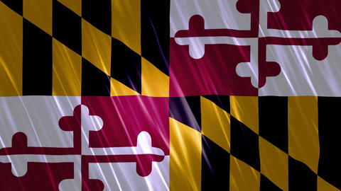Maryland State Loopable Flag Animation