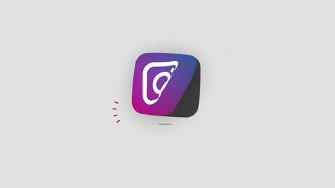Clean Social Media Logos Motion Graphics Template