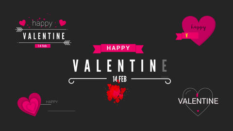 Valentine Clean Titles Motion Graphics Template