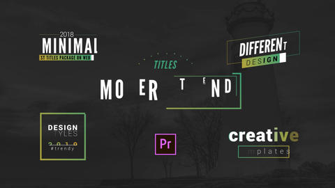 Ultra Modern Titles Pack Motion Graphics Template