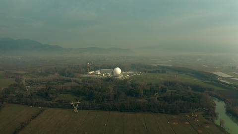 Aerial view of a nuclear power plant Archivo
