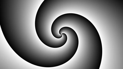 Psychedelic spiral in black and white. Hypnotic twirl vortex hypnotic spiral Animation