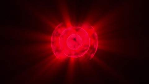 Fast Red Glowing Concentric Circles Rays Abstract Motion Background Loop 2 Animation