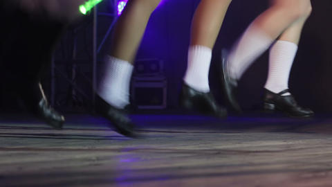 Scottish dancing in concert Footage