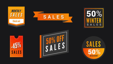 Modern Sales Badges V3 Motion Graphics Template