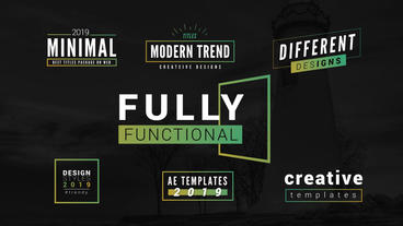Gradient Minimal Titles Pack Plantilla de After Effects