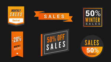 Modern Sales Badges Pack Plantilla de After Effects