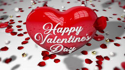 Valentine's Day Falling Rose Animación