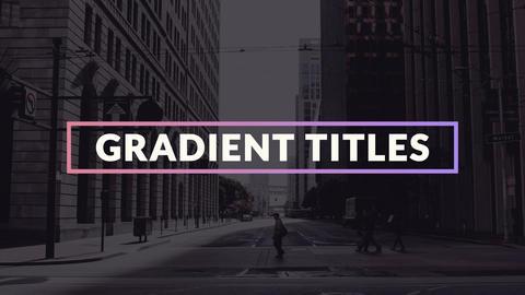 Gradient Titles モーショングラフィックステンプレート