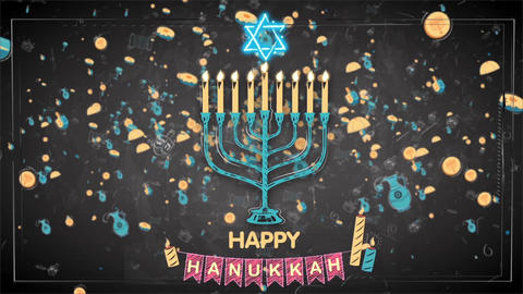 Happy Hanukkah After Effects Template