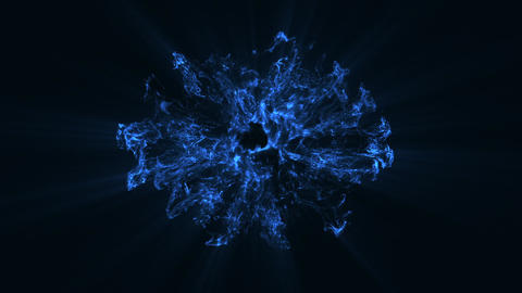 10 Blue Particles Shockwaves Overlay Graphic Elements Vol.2 Animation