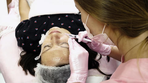 Face lifting procedure Footage