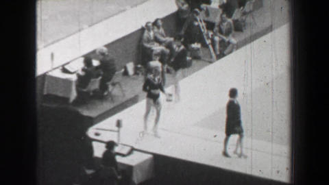 1968: Gold medal awards ceremony women's uneven bars gymnastics Summer Olympic G Footage