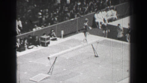 1968: Karin Janz East Germany women's gymnastics balance beam Summer Olympic Gam Live Action