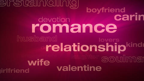 Love and Relationship Words Loop Animation