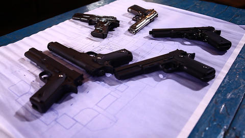 Revolver close up Footage