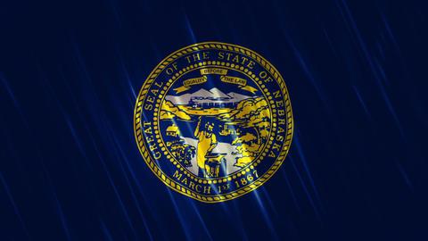 Nebraska State Loopable Flag Animation
