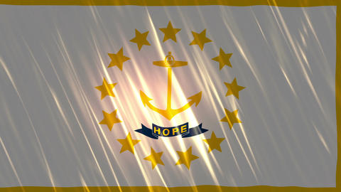 Rhode Island State Loopable Flag Animation