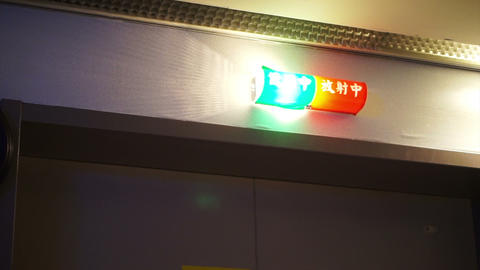 CT scan operation lighting. Green and red blinking when use Footage