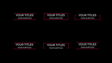Modern Motion Titles Motion Graphics Template