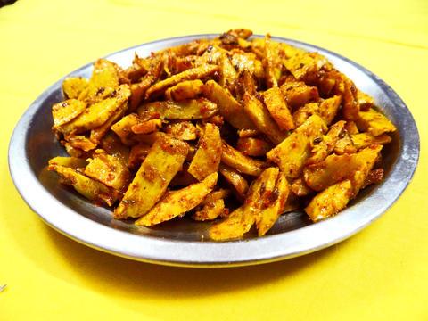 Arvi ki Sabzi: Arum fried vegetables Photo