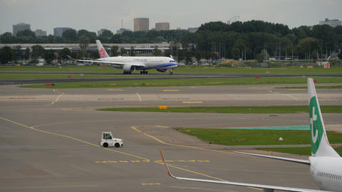 China Airlines Airbus A350 departure Live Action