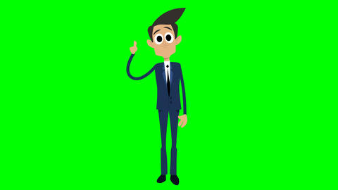 Businessman Animation - explaining Animation