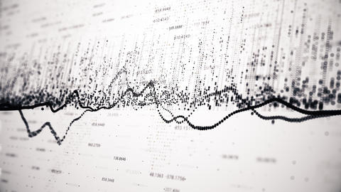 Financial figures and diagrams showing changes in the markets Live Action