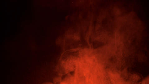 Red Smoke On Black Background Live Action