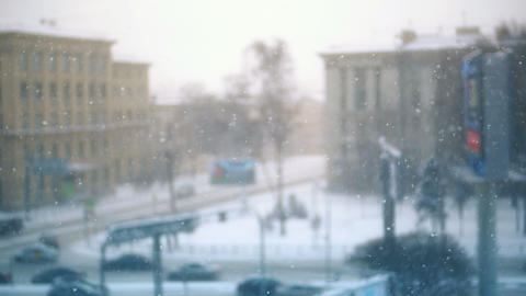 Snowfall in City Live Action
