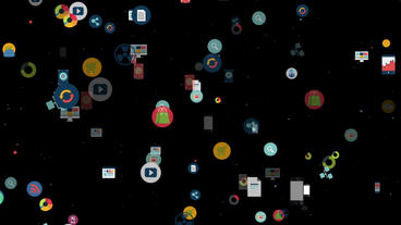 Icon App particles F Plantilla de After Effects