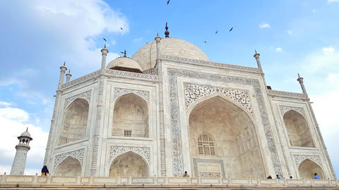 Taj Mahal a big tourist attraction usually called one of the seven wonders of Photo