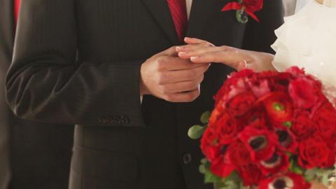 Exchange wedding rings Footage