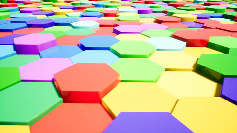 Colored hexagons. Great video for your intro Live Action