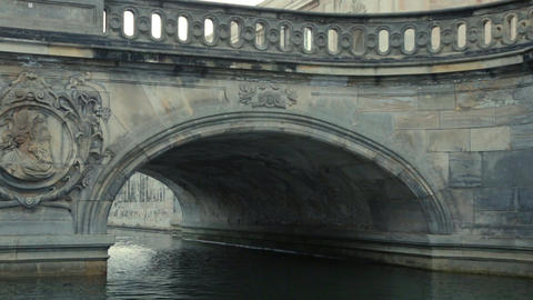 Float under Marble Bridge Copenhagen Footage